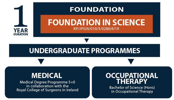 Flowchart of study pathway for Foundation in Science