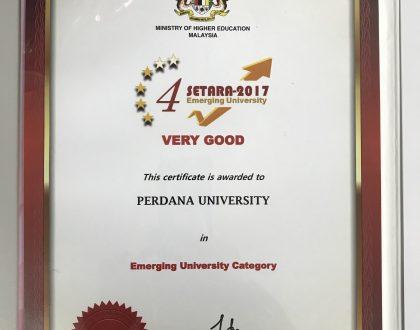Perdana University awarded a SETARA 4 Rating