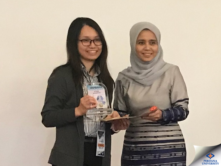 PU-RCSI Student Wins Prize at the Malaysian Society for Pharmacology and Physiology Conference