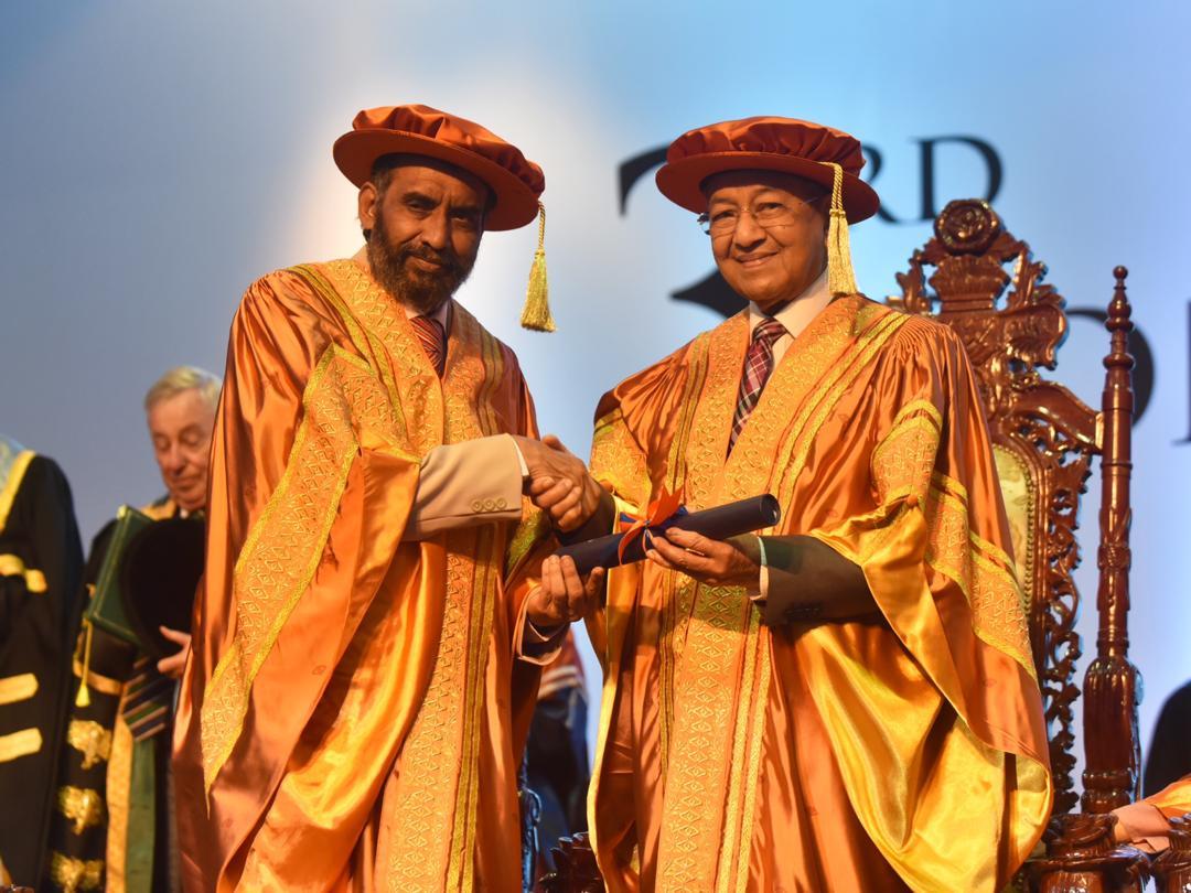 Tun M and Tun Siti Awarded Honorary Doctorates