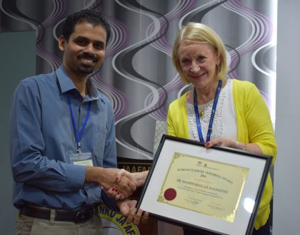 Dr Mahes Voted Best Clinical Tutor
