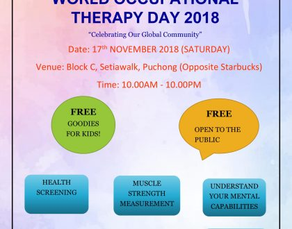World Occupational Therapy Day 2018