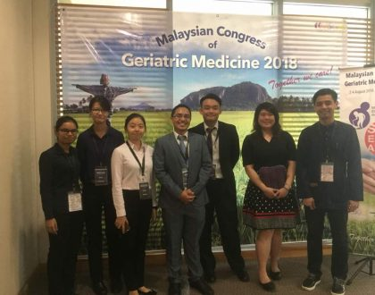 Presenting at the Malaysian Congress of Geriatric Medicine